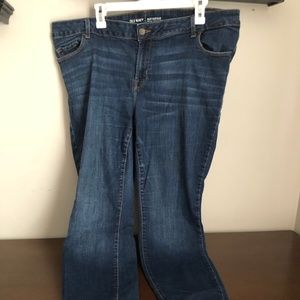 Old Navy dark wash plus size rockstar skinny jeans